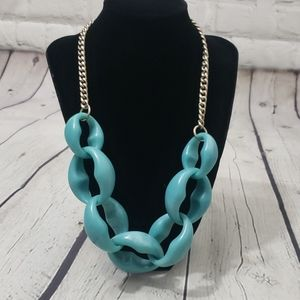 LOFT CHUNKY TURQUOISE STATEMENT NECKLACE